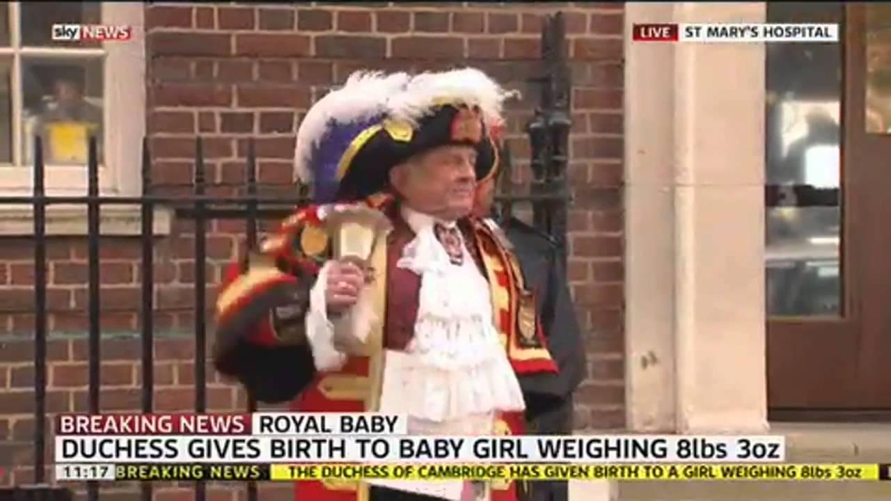 Празненства в Лондон по повод раждането на малката принцеса