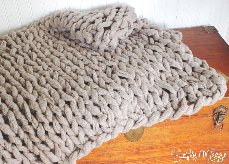 Как да си изплетете одеяло само с ръце