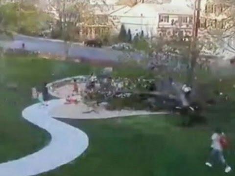 Дърво пада върху детска площадка