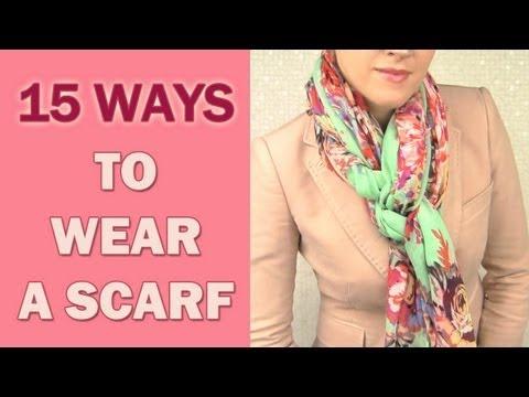 15 начина да носите шал
