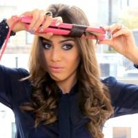 Къдрене на коса с преса за изправяне