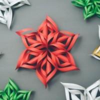 3Д Коледна звезда как лесно да си направим в къщи