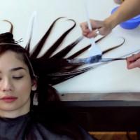 Флуидно боядисване на коса