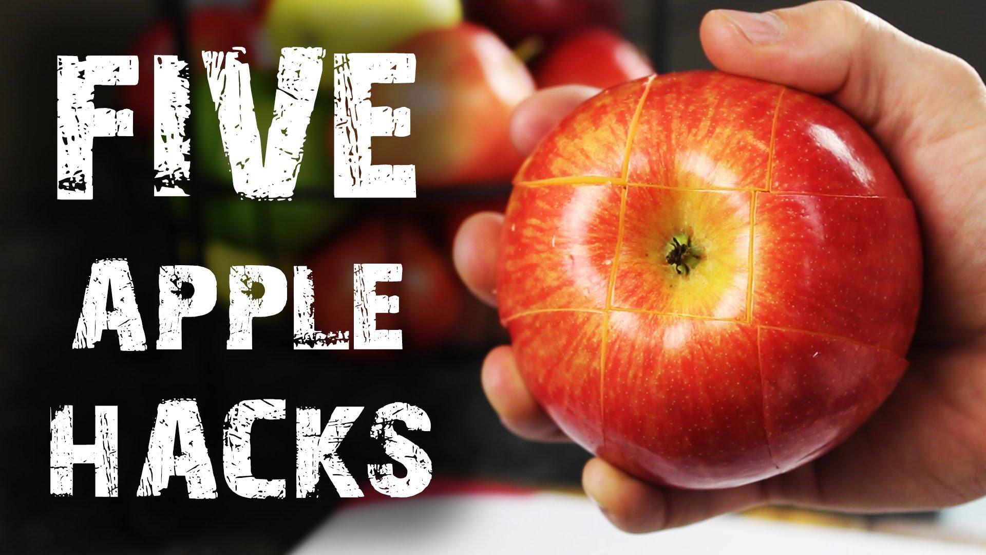 Оригинален начин за рязане на ябълка