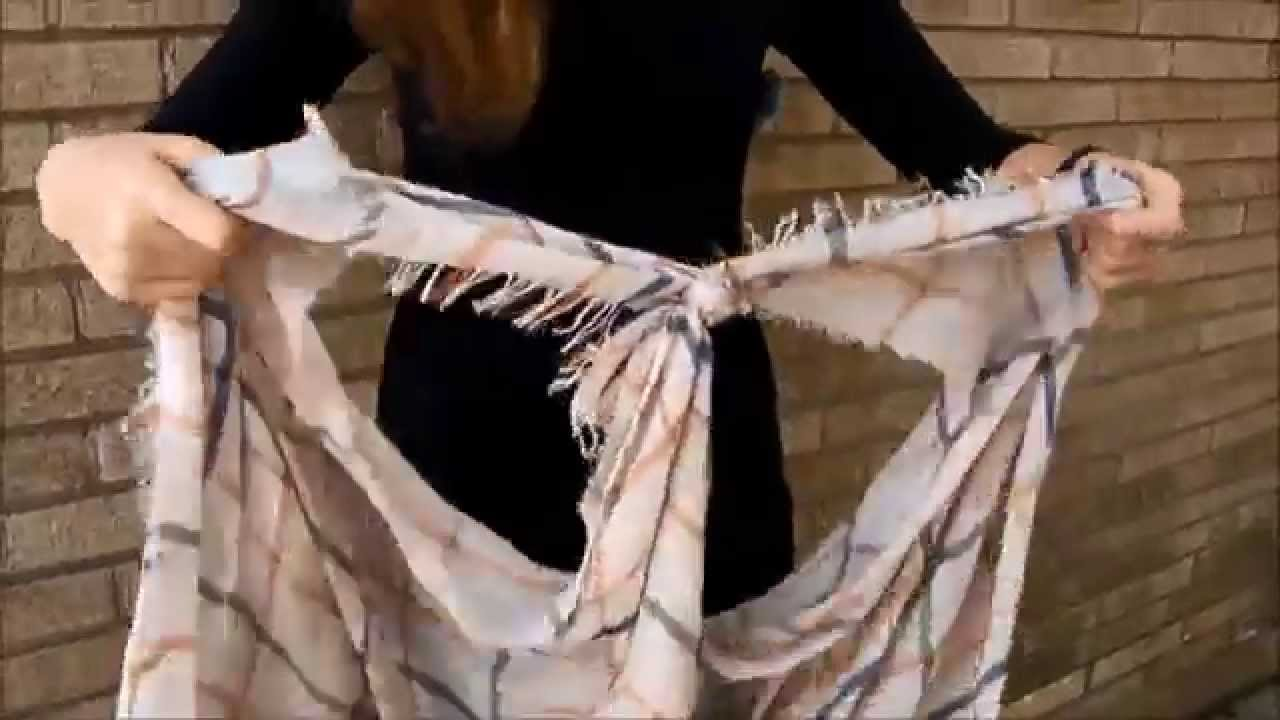 Как да превърнем шал в наметало