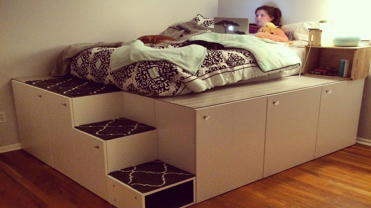 Как да си направим легло с шкафове Икеа