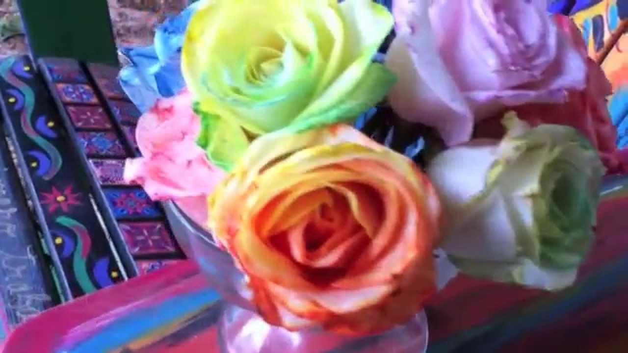 Как да си направим рози в цветовете на дъгата