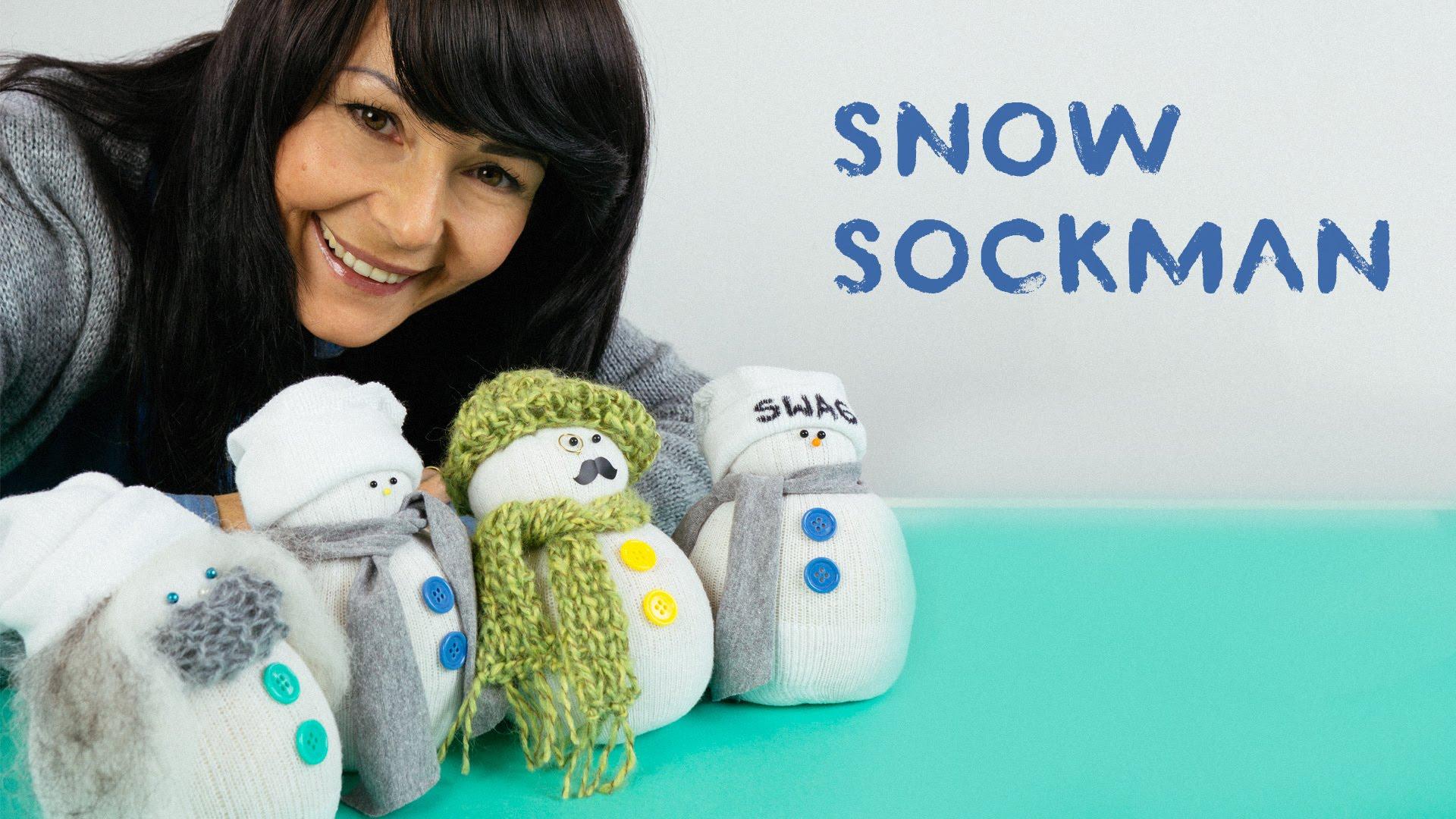 Снежен човек от чорап