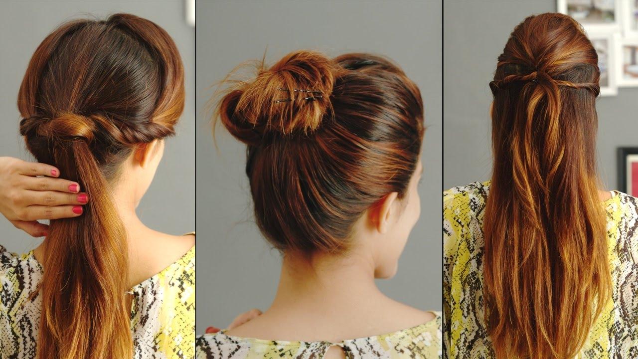 3 лесни прически за мазна коса