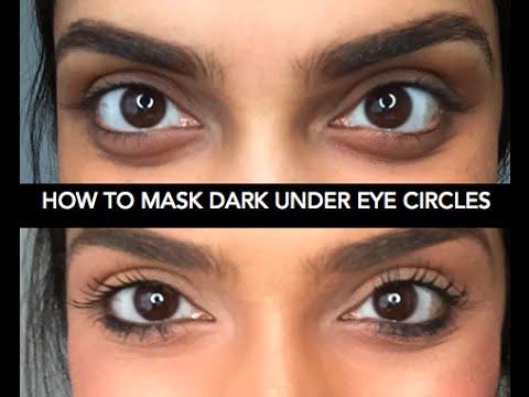 Премахване на тъмните кръгове под очите с грим