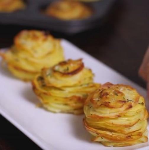 Картофи с пармезан на фурна