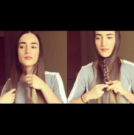 Ефектна плитка за дълга коса