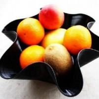 Купа за плодове от грамофонна плоча