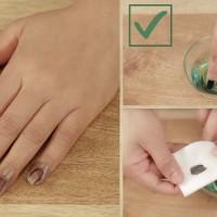 Премахване правилно на лака за нокти