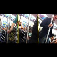 Киану Рийвс в метрото