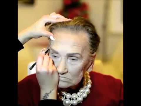 Невероятен грим на 80 годишна жена