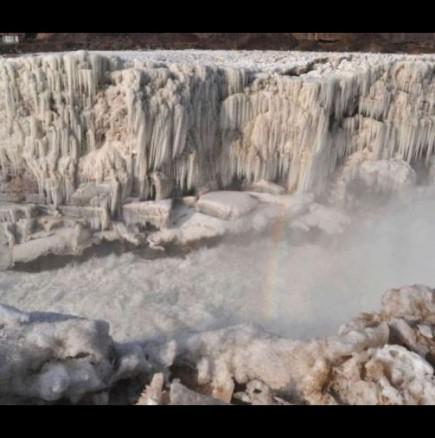 Ледения водопад Хукоу