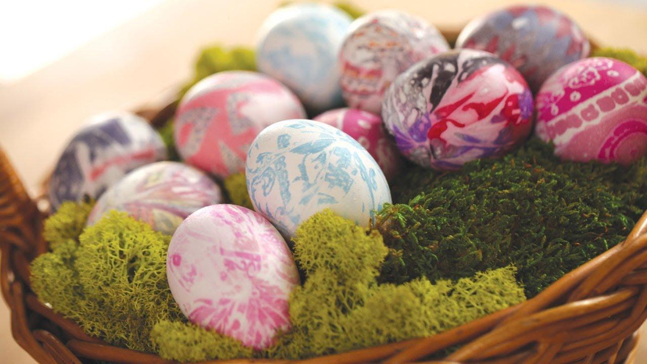 Нова техника за боядисване на яйца