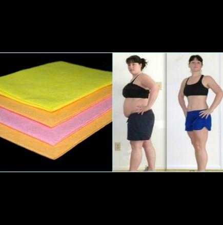 Упражнения за корем и бедра с кърпи