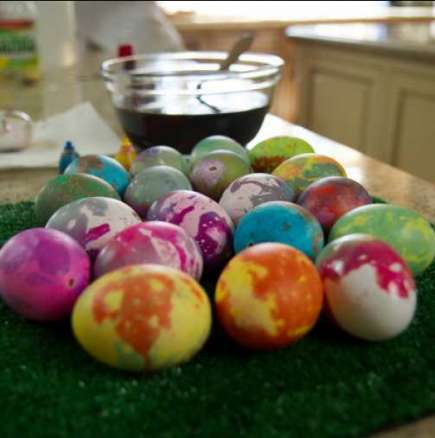 Тай-боядисване великденски яйца с био боя