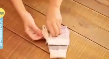 Правилно сгъване на чорапи