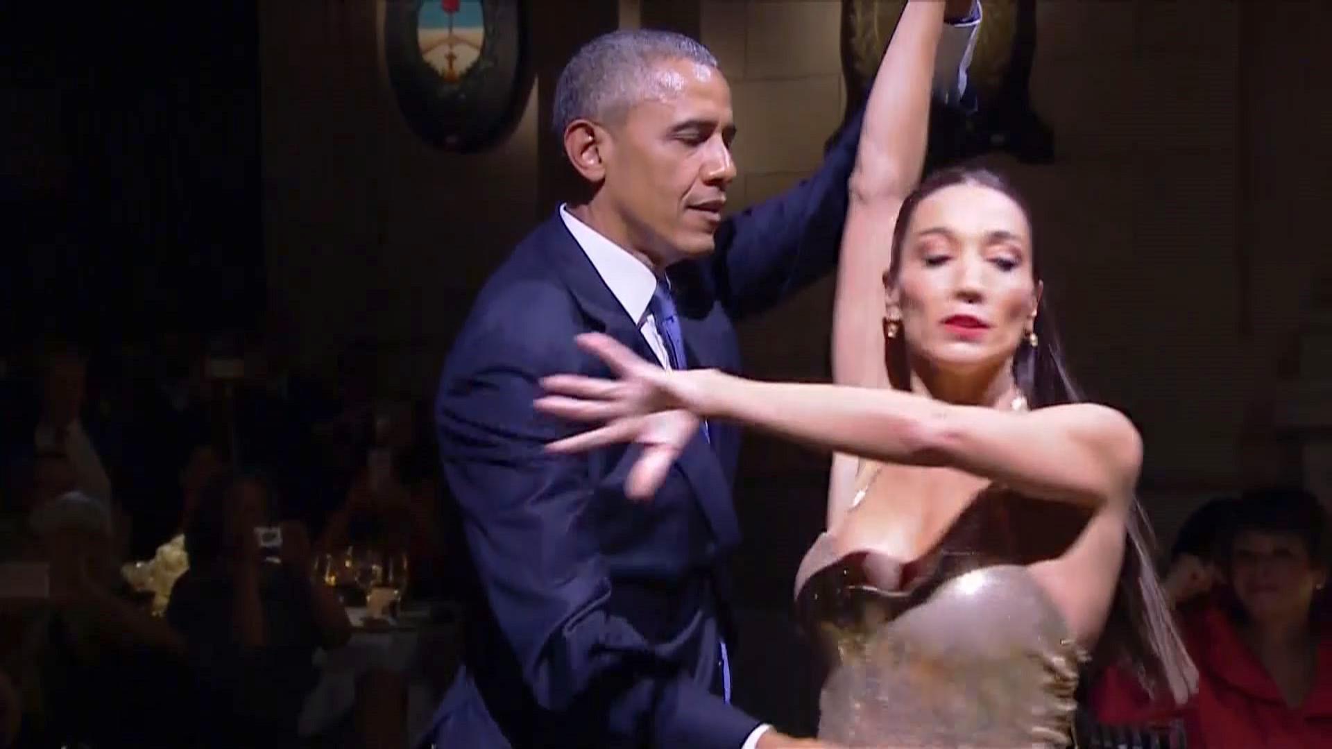 Уникално страстно танго на Обама