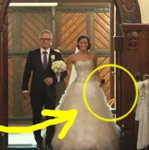 Булка и младоженец на сватбата