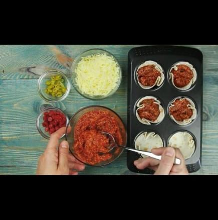 Мини-пици с арабски питки